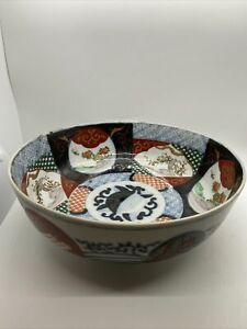 Antique Japanese Arita Imari 19th C Presentation Piece Marked Porcelain Bowl