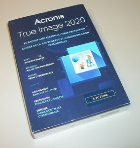 Acronis True Image 2020 For 5 Computers PCs Backup Recovery Software New in Box