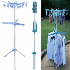 Clothes Multi Hanger Rotating Folding Garment Airer Indoor Outdoor Free Standing