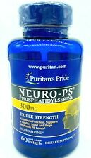 Puritan's Pride® Neuro-PS® 300mg (Phosphatidylserine), 60 Softgels Exp 3/30/2020