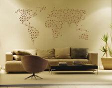ik1348 Wall Decal Sticker world map Bedroom Living Room