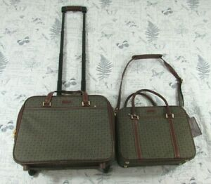 HARTMANN WINGS COLLECTION Diamond Jacquard Cognac Carry On and wheeled 2 piece