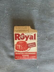 Vintage 1950 Royal Pudding Howdy Doody Pudding Box Sir Archibald Card