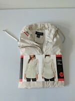 Jones New York Women's Parka In A Pocket Rain Jacket - Medium - Beige Sand New!