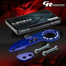 NRG 10MM RACING ANODIZED ALUMINUM BUMPER/CHASSIS TOW HOOK REAR KIT BLUE