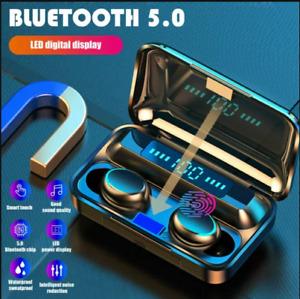 TWS Wireless Bluetooth Earphones Headphones Stereo Sport In-Ear Mini Earbuds