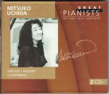 Mitsuko UCHIDA: GREAT PIANISTS OF THE 20TH CENTURY 2CD Mozart Schienberg Debussy