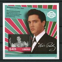 Liberia 2016 MNH Elvis Presley His Life in Stamps Football 1v S/S I Celebrities
