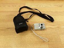 Sony Cyber Shot DSC-W55 Digital Camera Silver 7.2MP with Case Tested