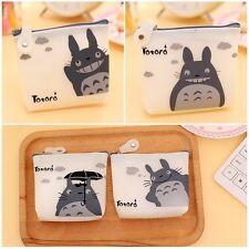 Cute Mini Totoro Transparent Coin Pouch Case Jelly Cartoon Purse Key Card Wallet