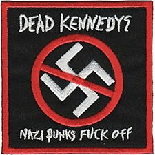 Dead Kennedys N*** Punks F*** Off  square sew-on cloth patch   (cv)