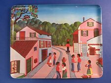 "c.1975 THE CROSSING * 12"" Melamine Tray Art ~FERNANDO DE ANGELIS~ Made In Italy"