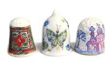 Lomonosov Porcelain Thimbles  SET OF 3 PCS with logo from factory LFZ