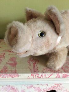 Merrythought Plush Pig Soft 'original ribbon.