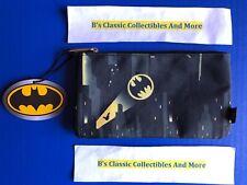 Loungefly Batman Zip Pouch, Bat Signal Print, Cosmetic/Coin Bag Pencil Pouch New