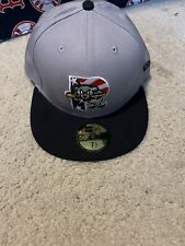 MILB Portland Sea Dogs New Era Hat Stars And Stripes 7 1/2 59fifty Grey BNWT