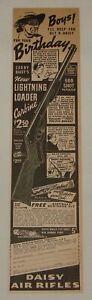 1940 Daisy bb gun magazine ad ~ NEW LIGHTNING LOADER ~ 2.5x10.5 inches