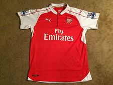 Authentic Arsenal Red/White PUMA Custom #19 Jersey Fly Emirates Adult Size XL