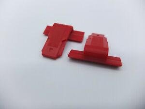 Akai GX 77 Scharnier Retaining clip Abdeckhaube 2 Stück Set 3D NEU - THE NEW RED