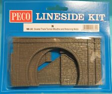 Peco N Gauge Double Track Mouths & Retaining Walls Kit NB-32