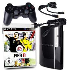 Playstation 3 - PS3 Fat 40Gb Cechg04 Negro + Orig. Almohadilla + Juego Fifa 11