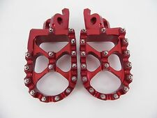 Honda  Foot pegs Footrests WIDE Anodized RED CRF150 CRF250 CRF450 CR125 CR250