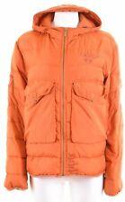 ADD Womens Padded Jacket UK 20 2XL Orange Nylon  EY06
