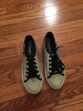 Girls Keds Silver And Black Tennis Shoes Size 3M
