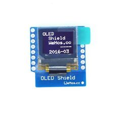 "1PCS OLED Shield for WeMos D1 mini 0.66"" inch 64X48 IIC I2C For Arduino K NEW"