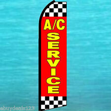 A/C AC SERVICE FLUTTER FEATHER FLAG Swooper Vertical Advertising Sign Bow Banner