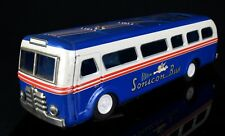 MASUDAYA -SONICON BUS- VINTAGE 1955 JAPANESE TIN PLATE BLUE CAR TOY MODEL