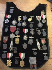 Scottish Velvet Breastplate with Pins, Awards, Medals for Bagpipe, Dance, Fielld