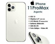 Apple iPhone 11 PRO MAX 256GB Bianco Silver LTE °°Sigillato°° Nuovo Grado AA+++