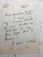 Original Letter Clementine Churchill Wife Of Sir Winston Churchill 1943 W W 2