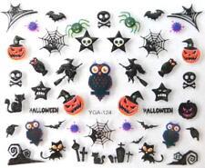 Nail art autocollants stickers ongles: Décorations Halloween Hiboux Citrouilles