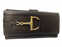 Auth GUCCI Horse Bit Leather Long Wallet Italy E-1008