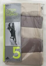 Marks and Spencer Thongs Cotton Regular Knickers for Women