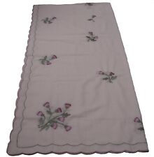Scottish Thistle Embroidered  Large Long Oblong Kitchen Dining Tablecloth