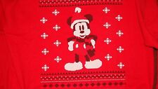 Official Mickey Mouse,Christmas sweatshirt,thick top, Red XXL New