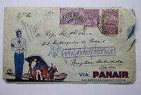 BRAZIL TO ENGLAND EMBASSY LONDON AIR MAIL 1932 REGIS DE OLIVEIRA A95 RAIR185