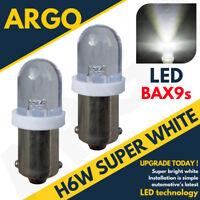 2 x 0.12W bayonette BAX9S H6W 64132 SMD LED BLANC Parker Ampoule