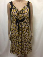 MANNING CARTELL DRESS WOMENS ~ SIZE 10 ~ GREAT COND STUNNING PATTERNED PRINT