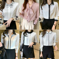 2021 Spring New Womens Long Sleeve Casual Business Career Work Shirt Blouse Tops