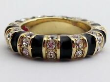 Lauren G Adams Stackable Gold Strip Tease Black Ring R-63502G, Size 5  New
