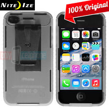 NEW Nite Ize Transparent Clear Case Cover w/Removable Belt Clip for iPhone 4S 4