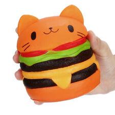 Jumbo Squishy Cute Hamburger Cat Slow Rising Cartoon Scented Bread Soft Fun