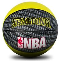 NBA Mini Rubber Basketball Size 3 In Yellow Outdoor Ball From Spalding