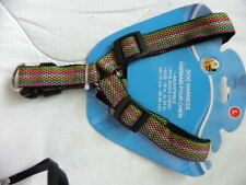 """Multi Color Adjustable Dog Harness Size Large Fits Dogs Chest 18"""" To 24"""""""