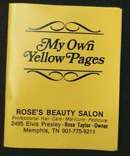 Vintage Address/Phone Book My Own Yellow Pages Elvis Presley Memphis Collectible