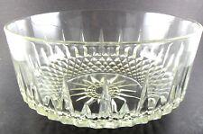 "vintage clear glass serving BOWL dish 9"" FRANCE (ki)"